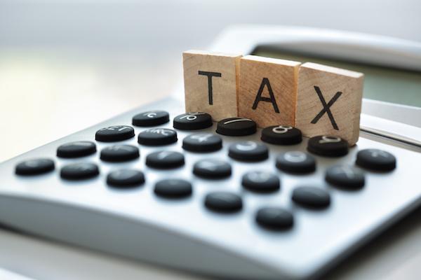tax blocks on a calculator